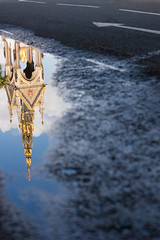 Urban Reflection (Loc BROHARD) Tags: london royalalberthall albertmemorial hydepark reflection refelctions puddle water