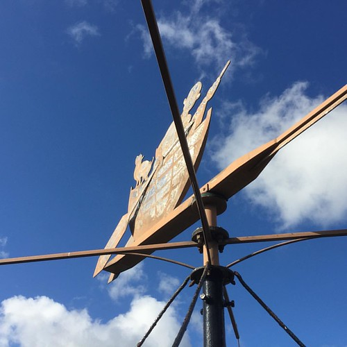 North South East or West. Life is a great adventure. #novemberphotoaday #fmsphotoaday #littlemoments #adventure #adventurethatislife #blue #skies #weathervane #England #Norfolk #norfolkbroads #ranworth #sthelenschurch