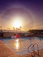 Sun Halo (/\ltus) Tags: sun halo pool waterpolo sanclemente sanclementehighschool southerncalifornia socal orangecounty oc sony dschx80 hdr internalhdr 3xp