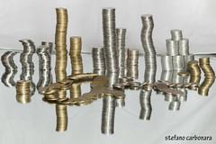 monete (stefanocarbonara) Tags: monete money spicci lire riflesso canon canon70d specchio mirrow