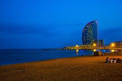 Playa de la Barceloneta. (De carrusel) Tags: 2016 mar nocturnas carrusel barcelona catalua espaa es