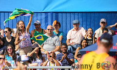 Brazil Fans going crazy (Danny VB) Tags: volleyball beachvolleyball fivb swatch torontofinals toronto ontario canada september summer canon 6d dannyboy sport sports action photo photography fan fans girl woman screaming brazil italy crowd people flag