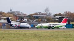 IMG_0995.jpg (Al Henderson) Tags: egtc avro avalonaerospace airliner aviation gcfae cranfield rj100rj85 bedfordshire rj swissinternational gchdt brusselsairlines england unitedkingdom gb