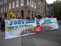 PLACE D'AGUESSEAU (marsupilami92) Tags: frankreich france hautsdefrance somme 80 amiens goodyear syndicat solidaires soutien manifestation justice appel postier 92 banderole sudposte pneu