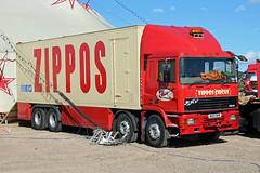 Zippo's Circus M210 RKN, ERF EC in Cheltenham (majorcatransport) Tags: ukshowmen cheltenham zipposcircus erf erfec