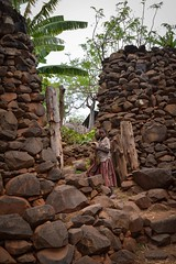 Konso Village (Rod Waddington) Tags: africa african afrika afrique ethiopia ethiopian ethnic etiopia ethnicity ethiopie etiopian thiopien omovalley omo omoriver konso tribe traditional tribal culture cultural village rock stone fortification girl wall