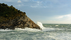 Surf in Porto Venere, Italy (donhall9141) Tags: oceanshore 201611tacruise landscape water italy portovenere phototype 2016 waves