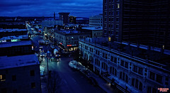 Let's Get This Day Started (MBates Foto) Tags: early morning dawn city downtown street color outdoors spokane washington easternwashington pacificnorthwest buildings architecture blue unitedstates 99201 davenport hotel