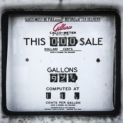 (309/366) This Sale (CarusoPhoto) Tags: vintage retro gas station pump iphone 7 plus john caruso carusophoto photo day project 365 366 square banal mundane ordinary everyday