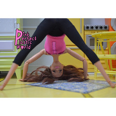 day 2 (pinkperfectplasticworld) Tags: djy08 barbie pink perfect plastic world int jour day nikon doll dolls poupe poupes puppen bambole poppen bonecas dockor nuket dukker  yoga     blue top fitness bambi made move mtm 2015 mueca muecas mattel 16 sport