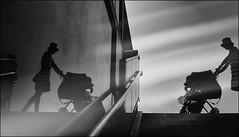 F_DSC4934-1-BW-1-Nikon D300S-Nikkor 16-85mm-May Lee 廖藹淳 (May-margy) Tags: maymargy bw 黑白 人像 剪影 嬰兒車 玻璃 反射 階梯 扶手 街拍 streetviewphotographytaiwan 線條造型與光影 linesformandlightandshadows 天馬行空鏡頭的異想世界 mylensandmyimagination 心象意象與影像 naturalcoincidencethrumylens taiwan repofchina 台北市 台灣 中華民國 fdsc49341bw1 portrait silhouette glass reflection stroller dirty stairs taipeicity nikond300s nikkor1685mm maylee廖藹淳 journey 旅 humaningeometry