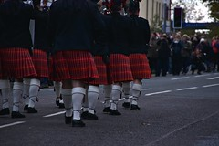 Marching on. (Steve.T.) Tags: legs kilt kilts kilted tartan bagpipes pipeband marching instep witham essex remembranceday remembrance parade marchingband nikon d7200 sigma18200 road caladonianpipeband plaid