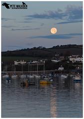 Supermoon At Dawn (Pete Walkden) Tags: supermoon moon dawn river teign teignmouth devon lunar