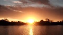 Sunrise (FujiRob) Tags: sunrise pulfinnaturereserve pulfinbog pulfin tickton fujifilmxe2 sun lake water nikefex eastyorkshire beverley yorkshire yorkshirewolds yorkshirewildlifetrust flare