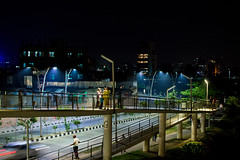 Nightfall (MH Photograaphy) Tags: outdoor water waterfront walking family streetview car hatirjheel dhaka bangladesh shadow lightfall nightfall lightshade kunipara tejgaon 2016 february bluelight ledlight street