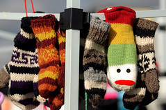 Don't Look So Sad ! (thepoocher7) Tags: bright cute sadface wollies woolmittens mittens wool handknit colourful art stjacobs market farmersmarket ontario canada sweet warm cozy