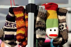 Don't Look So Sad ! (Poocher7) Tags: bright cute sadface wollies woolmittens mittens wool handknit colourful art stjacobs market farmersmarket ontario canada sweet warm cozy