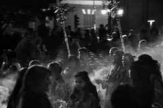 Procesin I (cogozalez1) Tags: andalucia blancoynegro blackandwhite calle espaa fiestas fotografa gente grupo holidays iglesia noche night nocturno procesiones procesin spain marzo 2016 tradicin street group negro people personas march tradition cruz cruces incienso