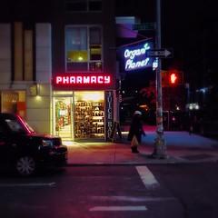 Pharmacy (street level) Tags: streetcorner gothamist iphoneography streetphotography nightscene pharmacy nyc newyorkcity brooklyn williamsburg