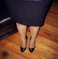 Wife (tcrowne1978) Tags: pantyhose tights nylons stockings heels highheels wife hotwife skirt