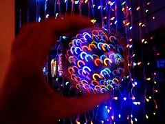 2016-11-24 xmas lights trapped in ball (april-mo) Tags: light christmaslights paintingwithlight crystal crystalball