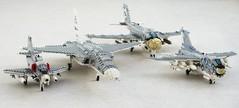 Navy attack aircraft (Mad physicist) Tags: a4 skyhawk ra5c vigilante a6e intruder a7e corsair corsairii lego aircraft military usnavy