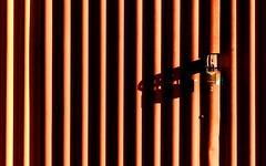 lock and shadow (jeansmachines24) Tags: door severnvalley railway lock shadow rhian brown linear corrugated station pattern