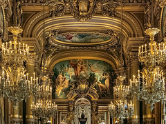 mosaic france historic architecture interior ornate beauxarts opéragarnier gilded building design gold foyer chandeliers palaisgarnier paris