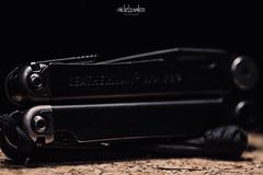 Leatherman black study #3 (Michel Zambon) Tags: leatherman wave studio photography black 100mm macro canon