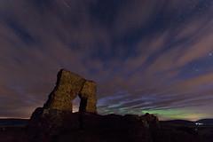 Northern twilight ([ Jaso ]) Tags: castle 30 night shower scotland ancient long exposure aberdeenshire angle pentax fort wide sigma meteorite borealis insch k3 dunnideer nomoon meteorshower perseid auora perseidshower k3ii ukshower