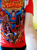 Super Heroes Tee (cole~) Tags: world blue red woman color colour nerd me girl yellow shirt comics skinny dc cool arms tshirt curvy save superman hero heroine shorts colourful villain selfie lenght