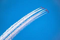 Red Arrows inverted (darrenjcampbell) Tags: airplanes planes redarrows aerobatics rafdisplayteam scottishairshow2015