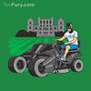 The Bat-mow-bile (Ben Douglass) Tags: summer art illustration design graphicdesign dc bruce batman dccomics tshirts gotham vector brucewayne lawnmover thedarkknight