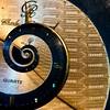 Time loop (darynthe) Tags: blue macro gold watch recursive tick quartz mondays droste mathmap