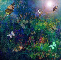 Dreamland Natura - In the Night Garden (virtually_supine popping in and out) Tags: flowers photomanipulation garden bright creative butterflies blues textures fantasy layers colourful hss digitalartwork sliderssunday photoshopelements9 paintnet405 kreativepeoplecontest42inthegarden treatthis95sourceimageperennialsbybrillianthues pse9effectslensflaregradientfill paintneteffectsjuliafractal