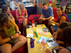 Bristlebots @ Staff Mtg (diane horvath) Tags: teachers makerspace bristlebots medfieldtech