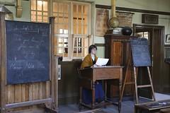 Beamish (LYNNE Mc) Tags: school people teacher blackboard schooltrips daysout canon5dmk3 lynnemc sept2015 beamishholidays