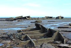 Wreck of the MV Creteblock (mike_j's) Tags: beach concrete boat rocks ship shipwreck whitby tug wreck rockpool scuttled creteblock nikonp530