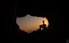 Solo trekking to Ratangad (Prabal Pandey) Tags: sun mountains silhouette sunrise trekking hiking adventure flare cave sahyadri ratangad bhandardara maharshtra flickrunitedaward
