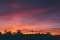 Autumn (bruit_silencieux) Tags: street city autumn sunset sky cloud sun nature colors lines canon landscape strasbourg alsace 7d canaldelabruche sigma35mm14art