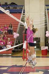 DAVE2371 (David J. Thomas) Tags: sports athletics women volleyball arkansas pioneers awareness breastcancer scots batesville pinkout lyoncollege crowleysridgecollege