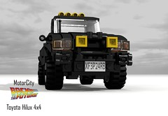 Toyota Hilux 4x4 Pickup (Back to the Future I & II) - MotorCity (lego911) Tags: auto birthday brown film car movie back model october lego offroad 4x4 33 jennifer render bttf 21st 4wd utility pickup 80s future toyota scifi doc 1980s 1985 marty challenge 8th backtothefuture cad lugnuts mcfly 96 povray moc hilux motorcity ldd 2015 sizematters yourclaimtofame lego911 happycrazyeighthbirthdaylugnuts