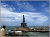 5700 - Thiruvalluvar Statue at Kanyakumari (chandrasekaran a 50 lakhs views Thanks to all.) Tags: sea india saint statue sunrise tamilnadu philosopher kanyakumari thiruvalluvar bayofbengal vivekananda tamils vivekanandarock thirukural
