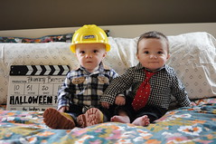 First Halloween - The Property Brothers (emily @ go haus go) Tags: show love halloween silver scott idea costume tv brothers jonathan or drew twin property first it flip list flop hgtv