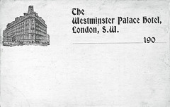 Westminster Palace Hotel (Leonard Bentley) Tags: westminsterpalacehotel victoriastreet tuftonstreet scaffolding accident postcard undividedback hydrauliclifts indiaoffice foreignandindiaoffice whitehall barclaysbank 1859 1860 1867 1900 1974 cannonrow london uk