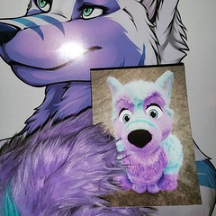 I gonna send out some postcards for Xmas and New Year :3 You also want one? Tell me why ^-^ #postcard #xmas #purple #card #blue (Keenora Fluffball) Tags: keenora fursuit furry kee