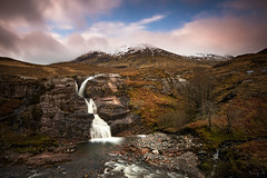 The Meeting of Three Waters (Tony N.) Tags: sky bw mountains clouds scotland rocks europe ngc falls ciel glencoe nuages chute coe rochers vanguard montagnes ecosse a82 d810 nd110 tonyn bwnd110 threewaters coeriver nikkor1635f4 meetingofthreewaters tonynunkovics startofcoeriver