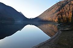 Ghirla (dino_x) Tags: autumn panorama mountain lake mountains alps nature water reflections landscape lago switzerland acqua riflessi alpi montagna paesaggio allaperto ghirla valganna