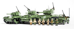 COBI Green Machine - USA WWII (Adam Purves (S3ISOR)) Tags: world 2 usa brick set america soldier army marine war tank lego jeep military united small wwii ww2 marines states normandy pershing sherman willys cobi chaffee m4a1 m24 24500 2457 2464 2471 m26