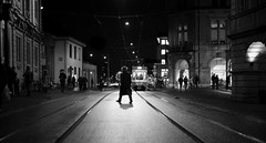 crossing.. (Cem Bayir) Tags: street leica winter light people night 50mm switzerland crossing cross streetphotography zürich summilux asph 5014 leicam asperical leicalove leicam240